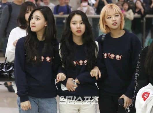twice, outfit, fashion, sweatshirt, ohmygirl, Nayeon, Chaeyoung, Jungyeon