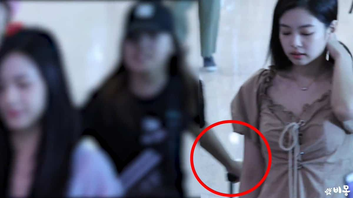 Fans were angry as BLACKPINK's Jennie was hit by a luggage the airport