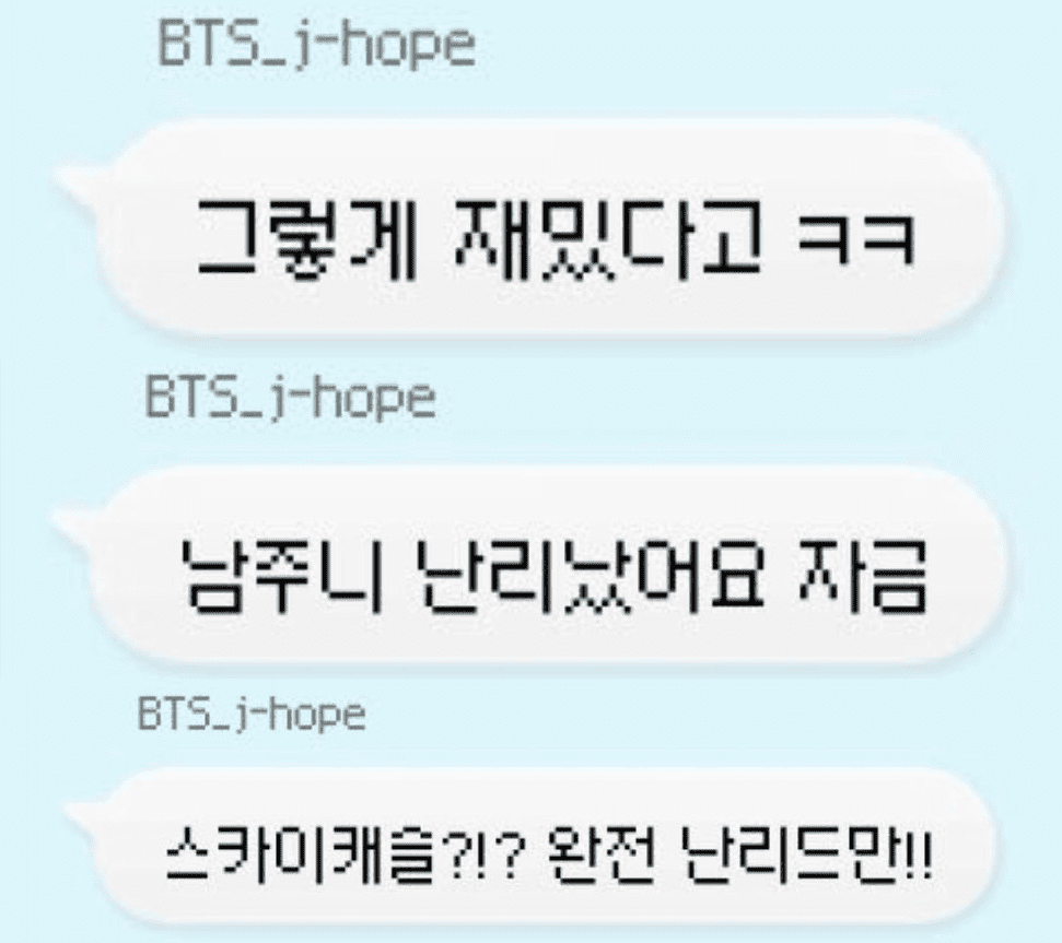 Both J-Hope and RM are crazy about SKY Castle.