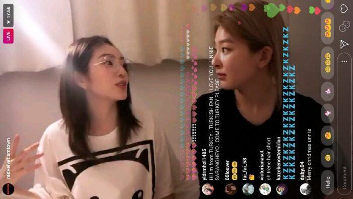 Seulgi introduced SKY Castle to Irene.