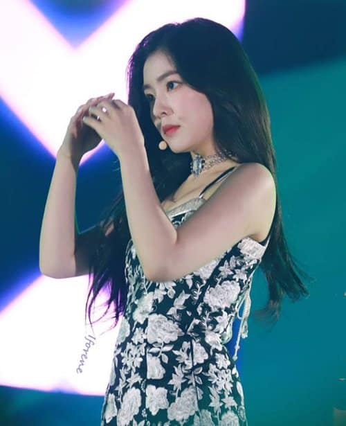 Irene is famous for her cool image, her face is emotionless but beautiful in all cases.