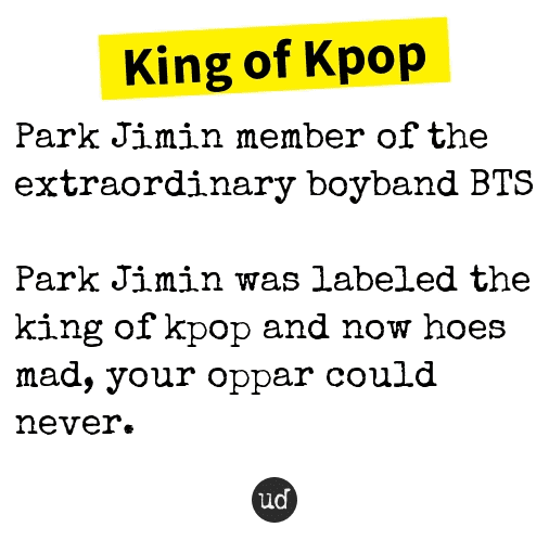 BTS Jimin Urban Dictionary