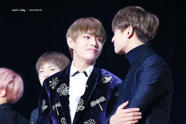 An interesting moment of interaction between Minho (SHINee) and V (BTS) suddenly made Knet excited.