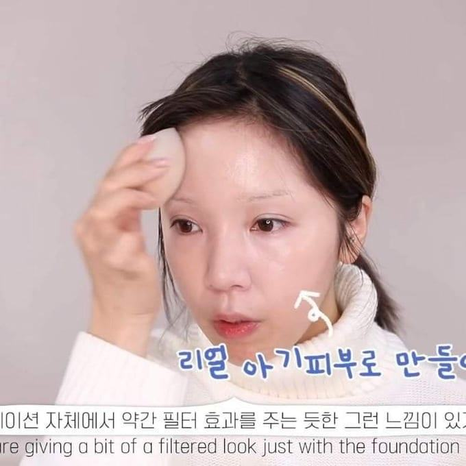 The Korean YouTuber female baby disguise